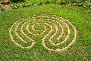 labyrinth in grass