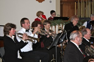 Trumpet Section, Coastal Winds, Director of Music John Terison in Black Tie, 12/10/2013