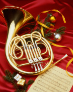 stock-photo-8876209-christmas-french-horn